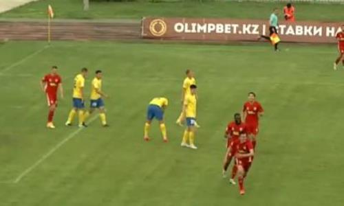 Видео второго и третьего голов Сергеева матча Премьер-Лиги «Жетысу» — «Актобе»