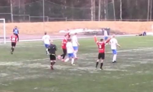 Мощная пушка. Казахстанский футболист эффектным дальним ударом забил за европейский клуб. Видео