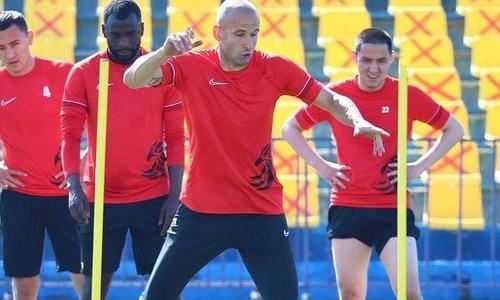 «Кызыл-Жар СК» опубликовал фото с тренировки перед матчем КПЛ с «Тураном»