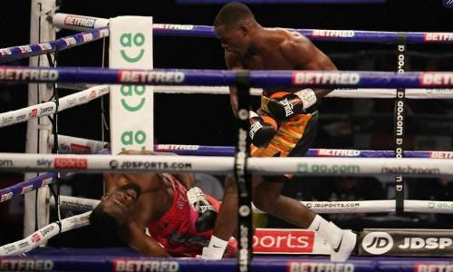 Жутким нокаутом завершился главный бой вечера бокса в Англии за титул WBA. Видео