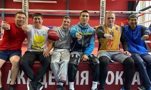 Казахстанские боксеры продолжают подготовку к вечеру бокса в России. Видео
