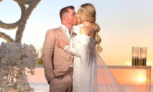 Изувечил Сондерса и женился на красотке. «Канело» отгулял свадьбу после победного боя. Видео