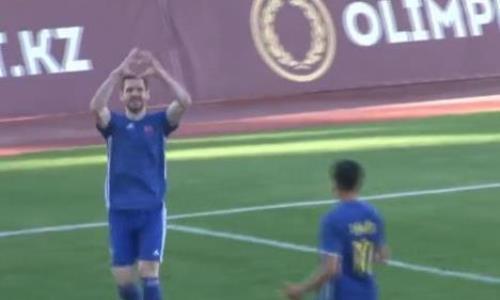 Видео двух голов Ковталюка матча Премьер-Лиги «Туран» — «Акжайык»