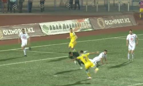 Видео гола Эбонга матча Премьер-Лиги «Кайсар» — «Астана»
