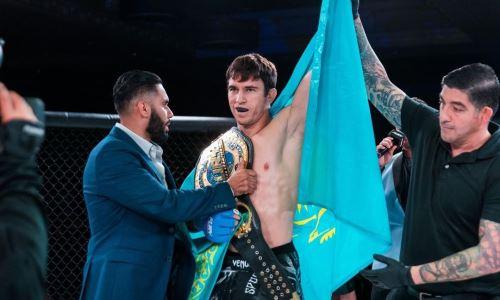 «Это только начало». Казахстанский боец высказался о завоевании титула чемпиона и будущем в UFC