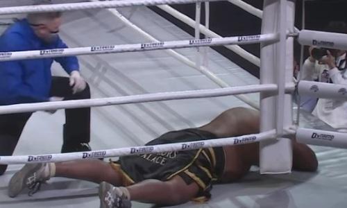Видео нокаута «двоечкой» 146-килограммового африканца казахстанским супертяжем