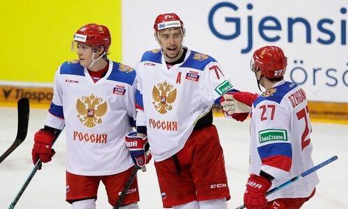Появился видеообзор вырванной победы сборной России над Чехией на ЧМ-2021 с участием сборной Казахстана