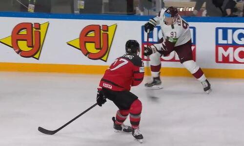 В группе сборной Казахстана на чемпионате мира заброшена шедевральная шайба в ворота Канады. Видео