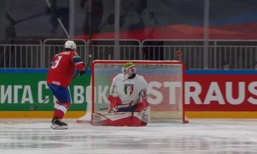 Форвард соперника сборной Казахстана шедеврально завершил свой хет-трик, «унизив» голкипера итальянцев. Видео