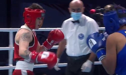 Двукратная чемпионка мира из Казахстана нокаутировала соперницу и вышла в финал ЧА-2021