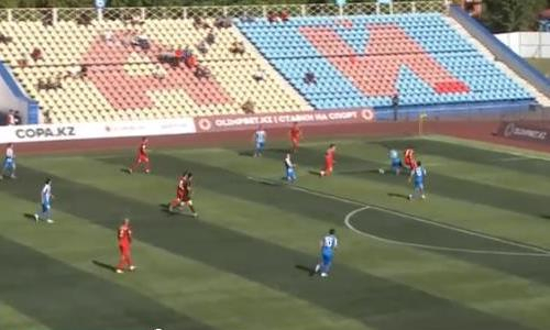 Видео второго гола Адамовича матча Премьер-Лиги «Кызыл-Жар СК» — «Тараз»