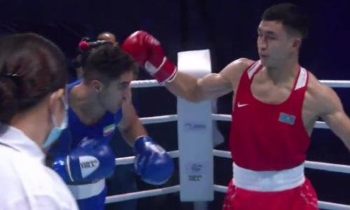 Видео боя с уверенной победой Аманкула над иранцем в полуфинале ЧА-2021