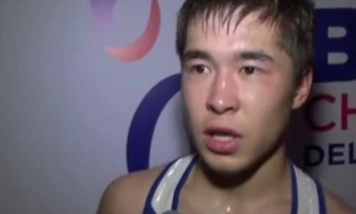 Самый юный казахстанский финалист ЧА-2021 прокомментировал свою уверенную победу над филиппинцем