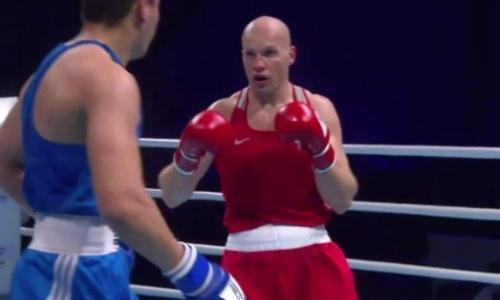 Видео победного боя Василия Левита в полуфинале чемпионата Азии-2021