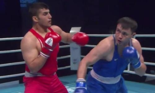 Видео боя, в котором Кункабаев отправил в нокдаун иранца и вышел в финал чемпионата Азии-2021