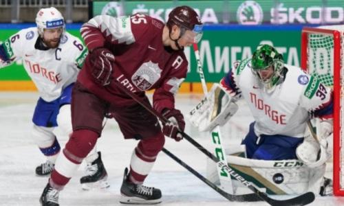 Латвия и Норвегия выдали зарубу с шестью шайбами и серией буллитов в группе сборной Казахстана на ЧМ-2021