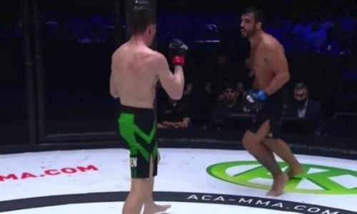 Видео победного боя казахстанского файтера против экс-бойца UFC