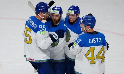 Сборная Казахстана забросила две шайбы за четыре минуты в ворота Италии. Видео