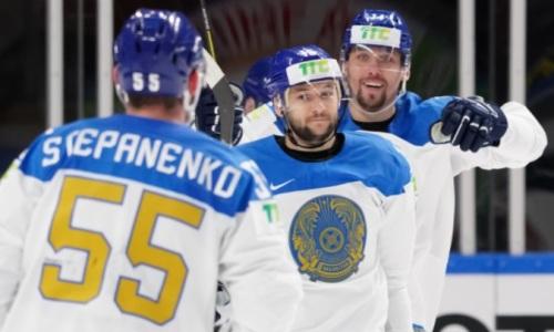 Сборная Казахстана вышла в лидеры группы чемпионата мира по хоккею