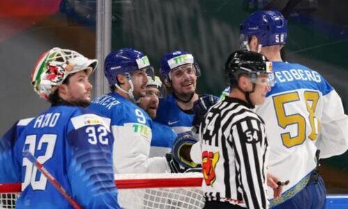 Как сборная Казахстана забросила 11 шайб в ворота Италии на чемпионате мира. Видео