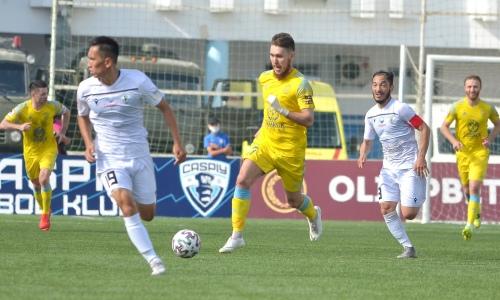 «Астана» забила два гола и «отскочила» в матче с «Каспием»