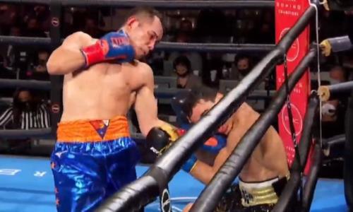 Главный бой вечера бокса с участием Джукембаева завершился поражением чемпиона мира нокаутом от легенды. Видео