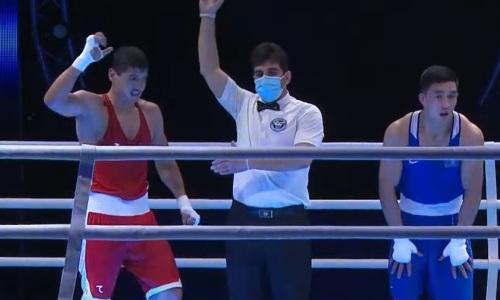 Вице-чемпион мира из Казахстана отправил в нокдаун узбека, но проиграл ему бой за «золото» ЧА-2021