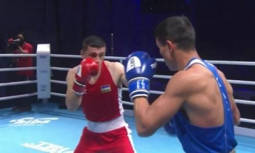 Видео скандального боя казахстанца с узбеком за «золото» ЧА-2021 по боксу