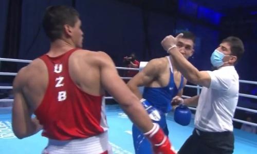 Засудили? Видео боя Аманкула против узбека в финале чемпионата Азии-2021