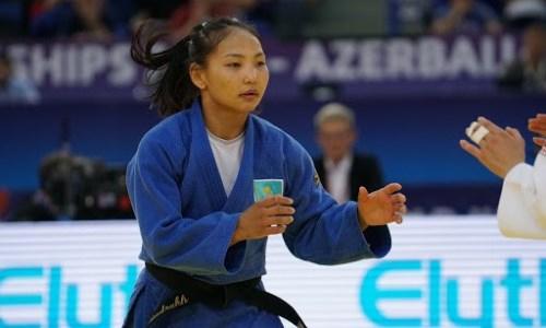 Казахстанка Отгонцэцэг Галбадрах стартовала с победы на чемпионате мира по дзюдо