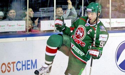 Клуб хоккеиста сборной Казахстана вспомнил уникальное достижение в матче «Барыса» в КХЛ. Видео