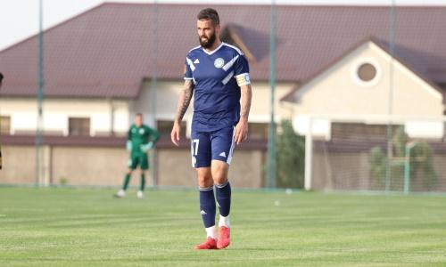 Защитник «Ордабасы» сыграл 100-й матч за клуб в Премьер-Лиге