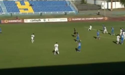Гол впечатляющим ударом издали забит в матче КПЛ. Видео