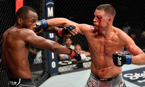 Нейт Диаз вернулся в октагон и устроил кровавую рубку на турнире UFC 263. Видео