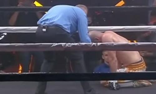 Непобежденный украинский супертяж хлестким ударом по печени отправил француза в нокаут. Видео