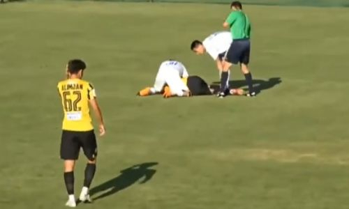 Футболист «Кайрата» потерял сознание во время матча. Видео