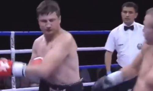 Казахстанский боксер досрочно проиграл россиянину в Ташкенте