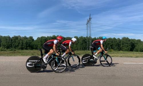 В Петропавловске состоялся чемпионат Казахстана по велоспорту в командной эстафете