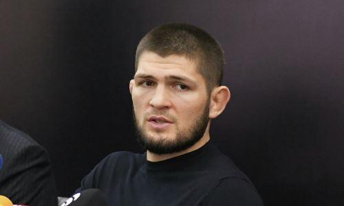 «Я первый, кто его напугал?» Казахстанский спортсмен показал захватывающее видео с Хабибом Нурмагомедовым
