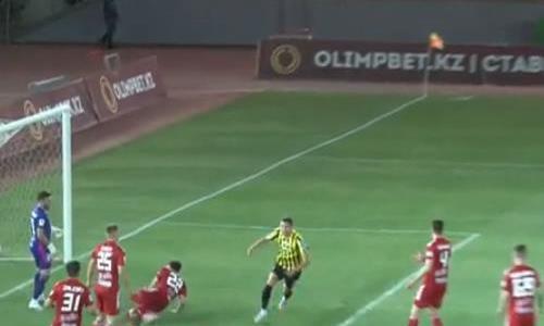 Видео гола Шушеначева матча Премьер-Лиги «Туран» — «Кайрат»