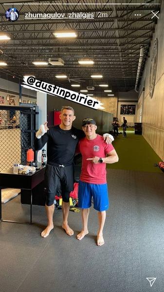 Жумагулов провел тренировку с экс-чемпионом UFC. Фото