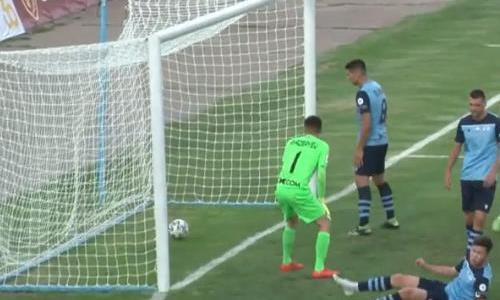 Видео гола Эуженио матча Премьер-Лиги «Тараз» — «Каспий»