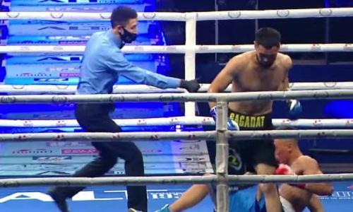 С быстрого нокдауна и отказа казахстанца начался вечер бокса в Алматы