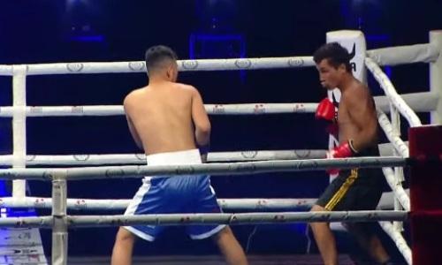 21-летний казахстанский боксер жесткого избил и нокаутировал узбека в первом раунде