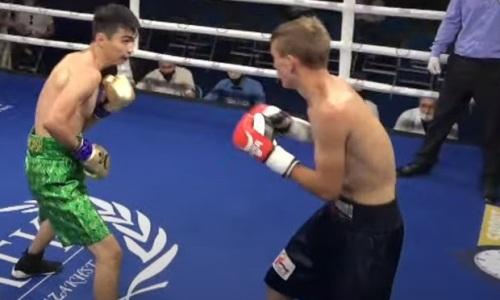 20-летний казахстанский нокаутер оформил очередную досрочную победу