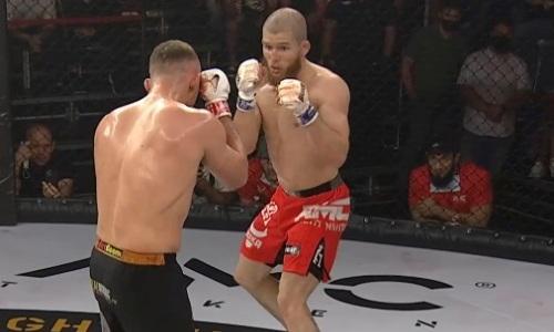 Побитый казахстанцем россиянин нокаутом выиграл главный бой турнира АМС Fight Nights 103