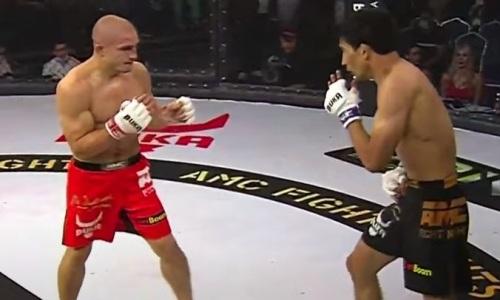 Видео полного боя казахстанского файтера с россиянином с неожиданным исходом на АМС Fight Nights 103