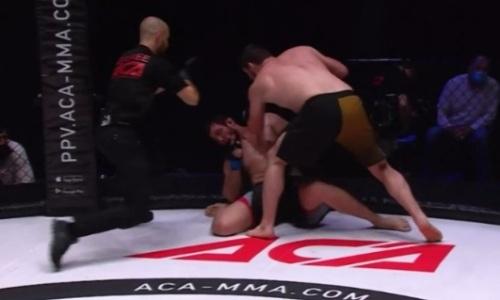 Видео нокаута казахстанца Евгения Егембердиева в бою за титул чемпиона АСА