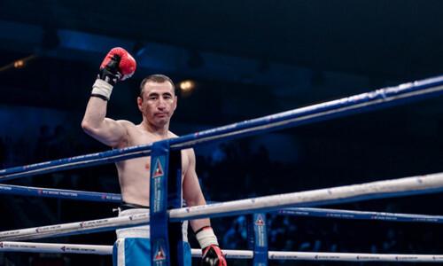 Нокаутом в первом раунде завершился бой для казахстанского боксера с экс-претендентом на титул чемпиона мира