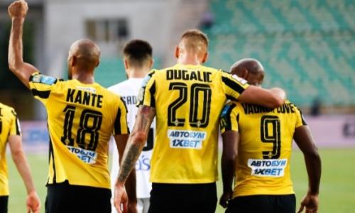 Закончился первый тайм матча «Кайрат» — «Црвена Звезда» в Лиге Чемпионов